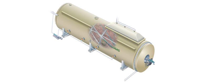 Biogasreaktor genomsikt