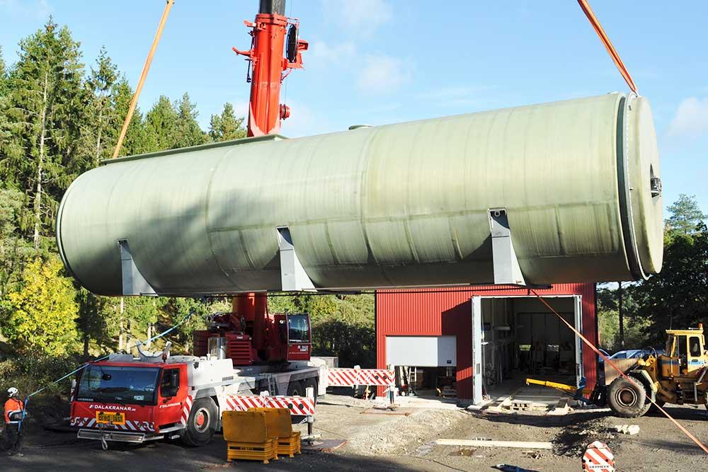 Biogasreaktor lyft